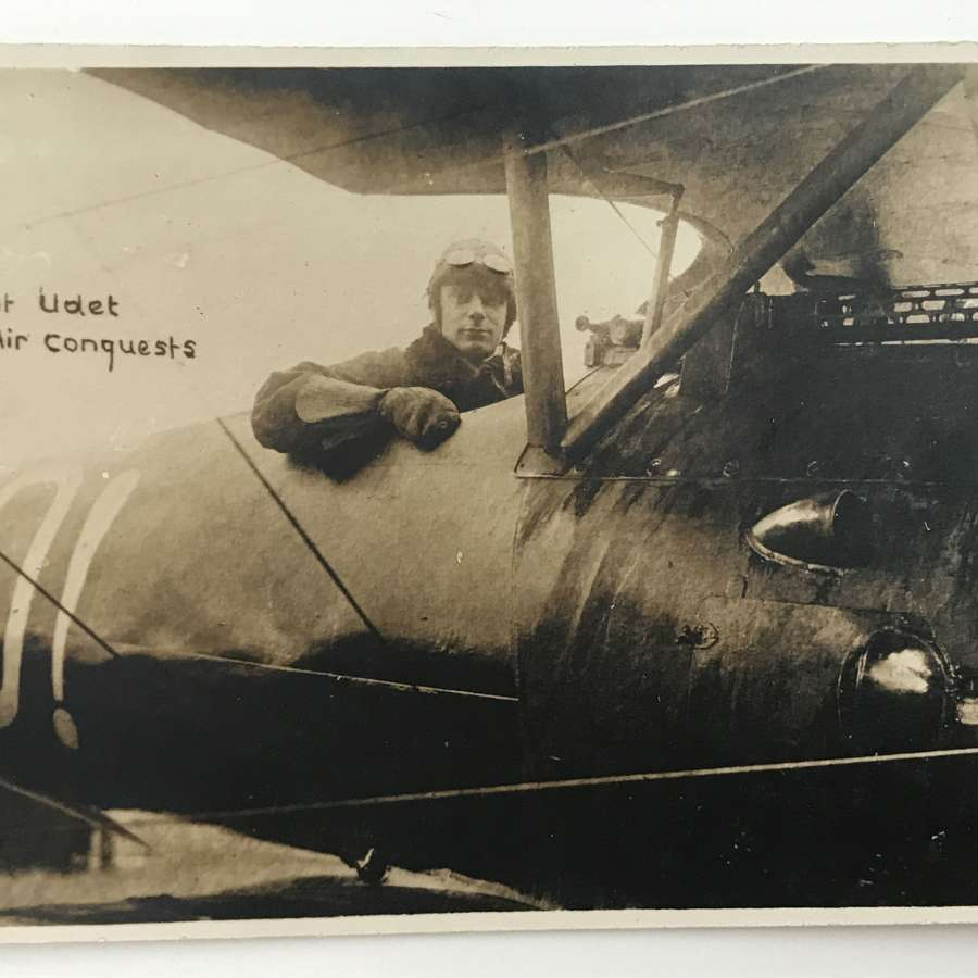 Postcard image of Ernst Udet Fighter ace with 62 victories