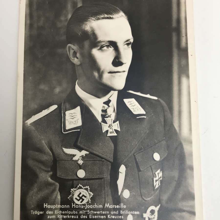 Postcard of Hans Joachim Marseille