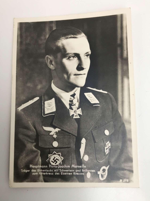 Postcard of Hans Joachim Marseille