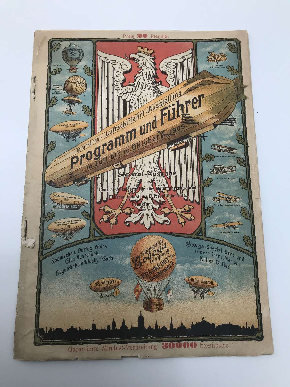 Rare German aviation magazine dated 1909