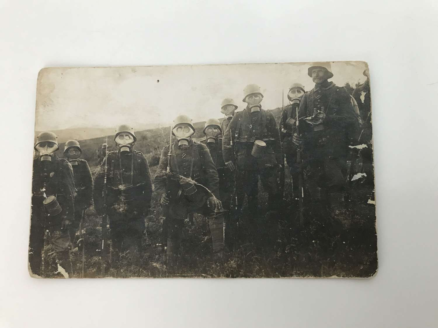 Postcard image of German trench raiding party