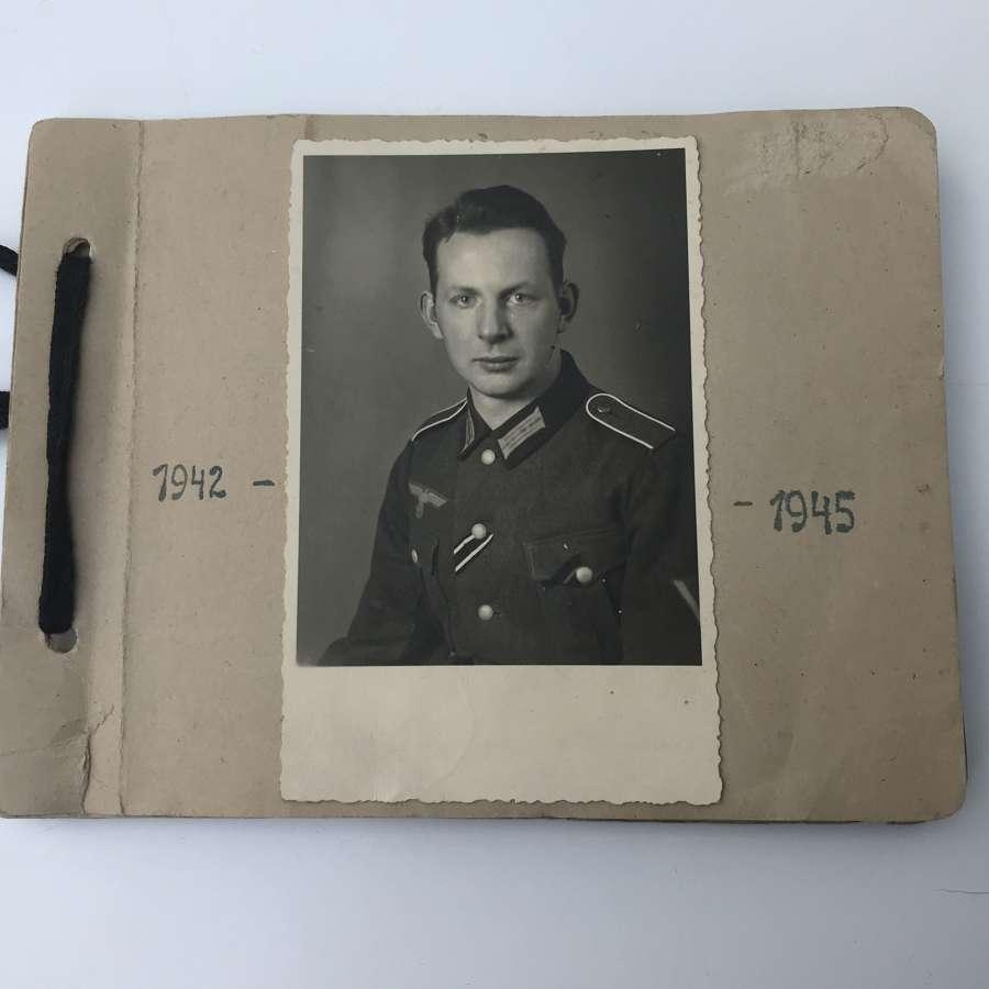 Mid war German Mountain troops photograph album