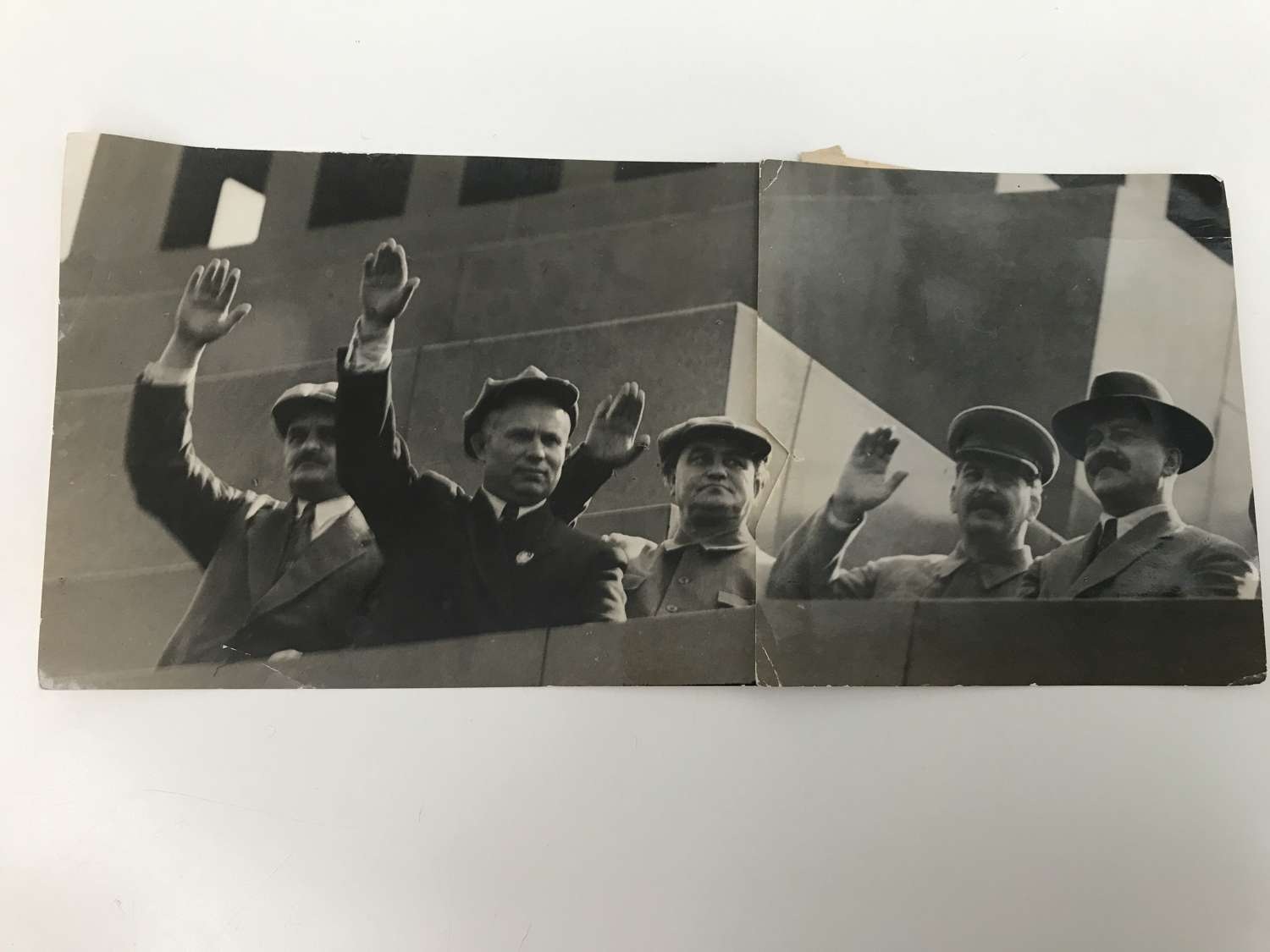 Press photograph of Joseph Stalin and the Pollitt bureau