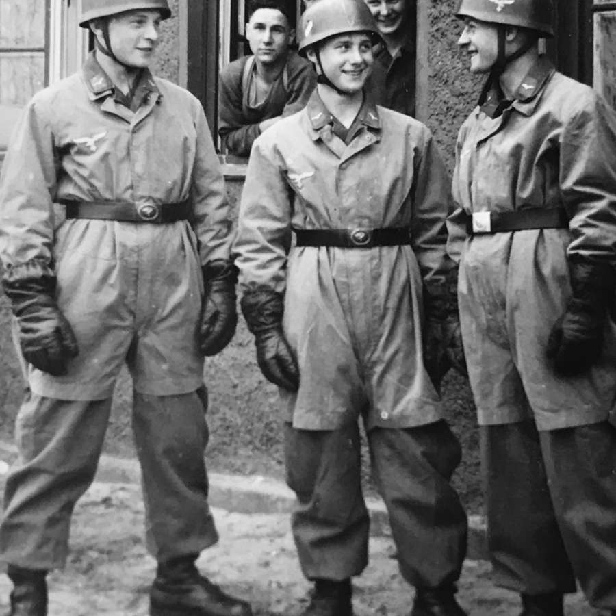 Image of three German Paratroopers(Fallschirmjager)