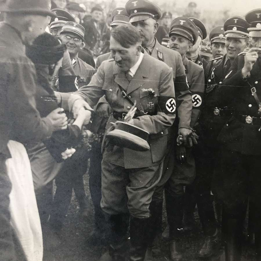 Postcard sized image of Adolf Hitler