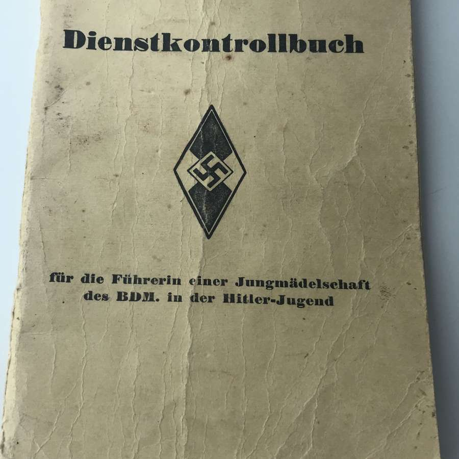 German BDM Service book named to Ursula Luhrmann dated 1942