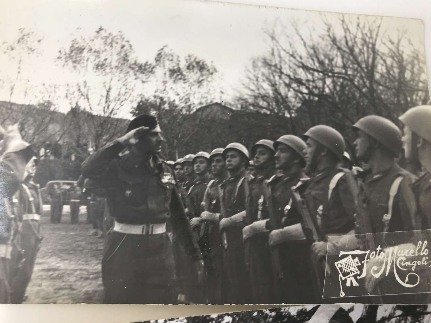 A pair of postcard sized images of the Polish forces in Italy
