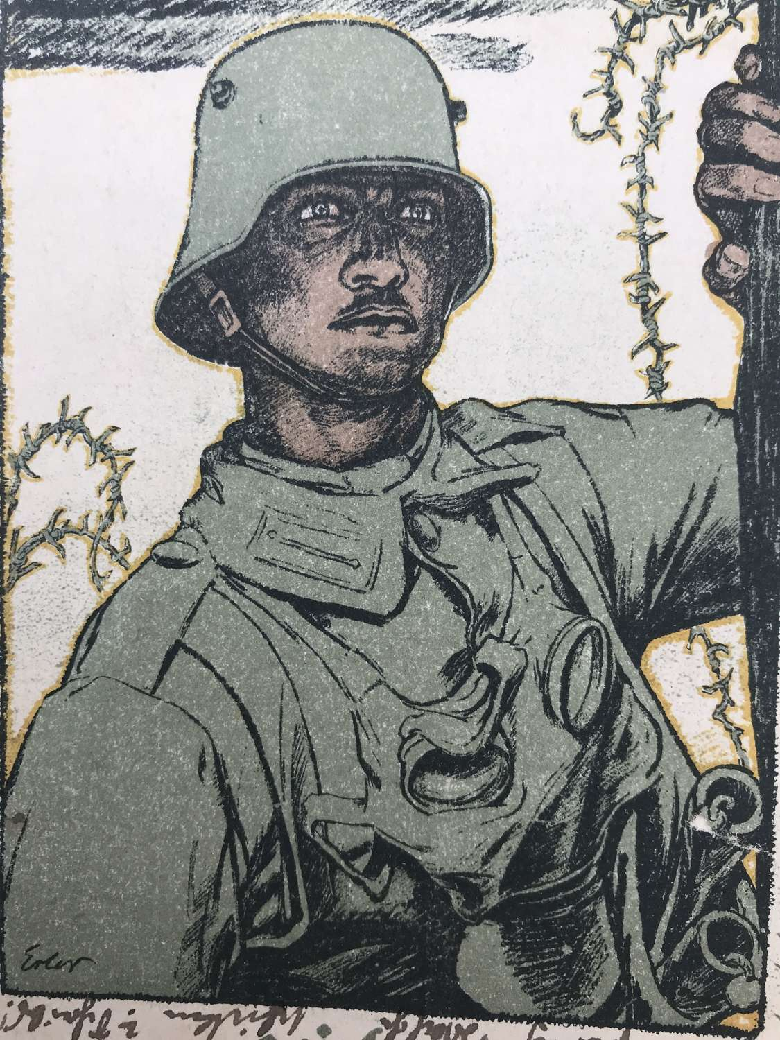 German First World War propaganda postcard dated 1917