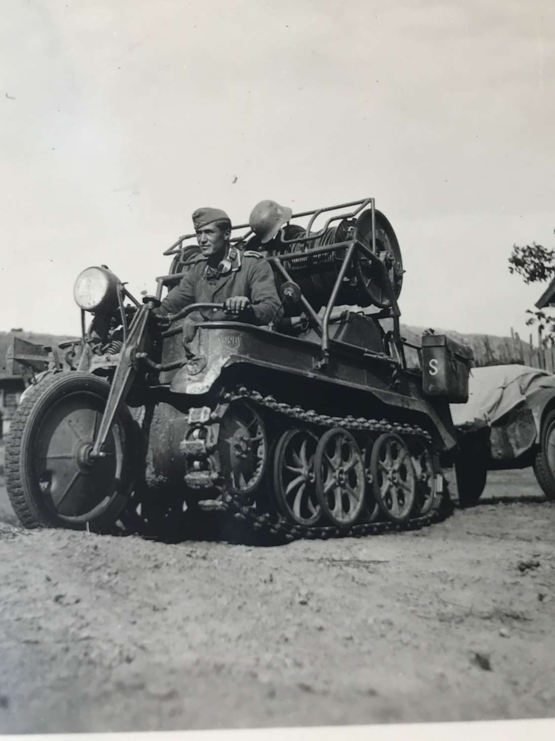 Photograph of kettenkrad in action