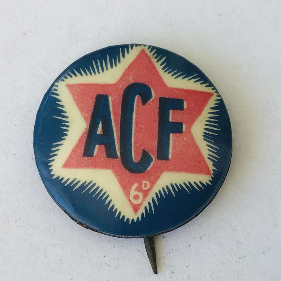 Australian comforts fund pin badge