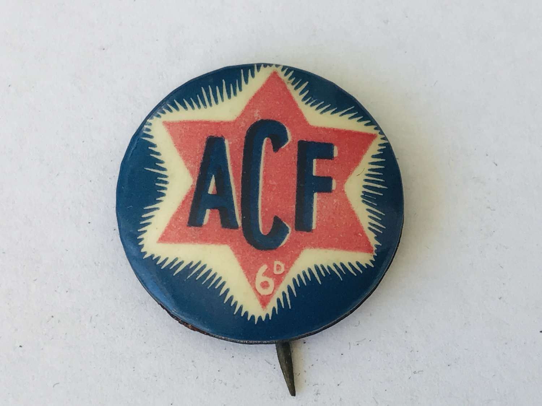 Australian comforts fund pin badge