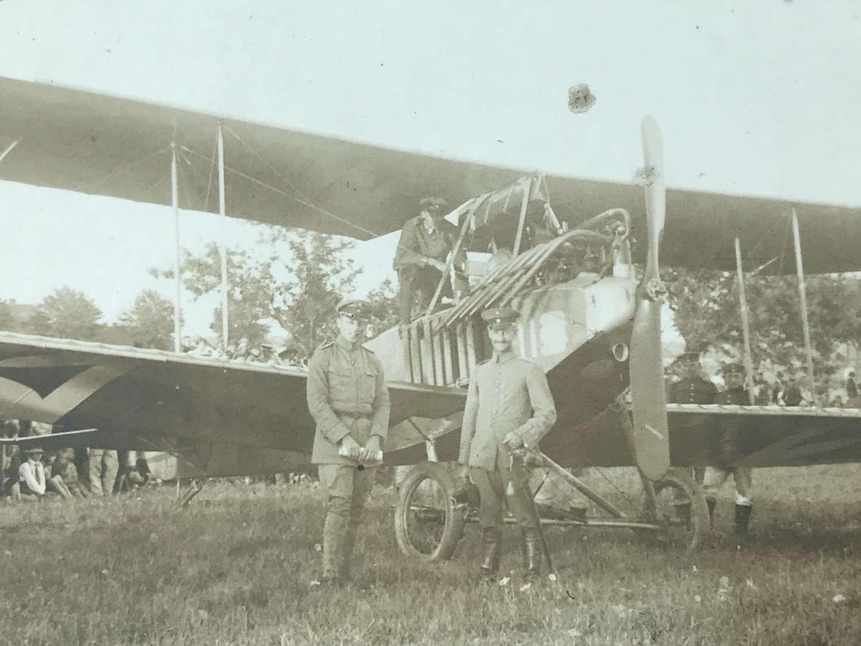 Postcard image of German albatross reconnaissance aircraft