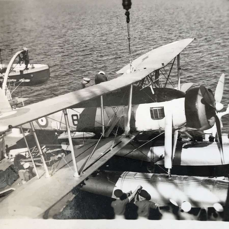 Three photographs of fairey swordfish dated 1937