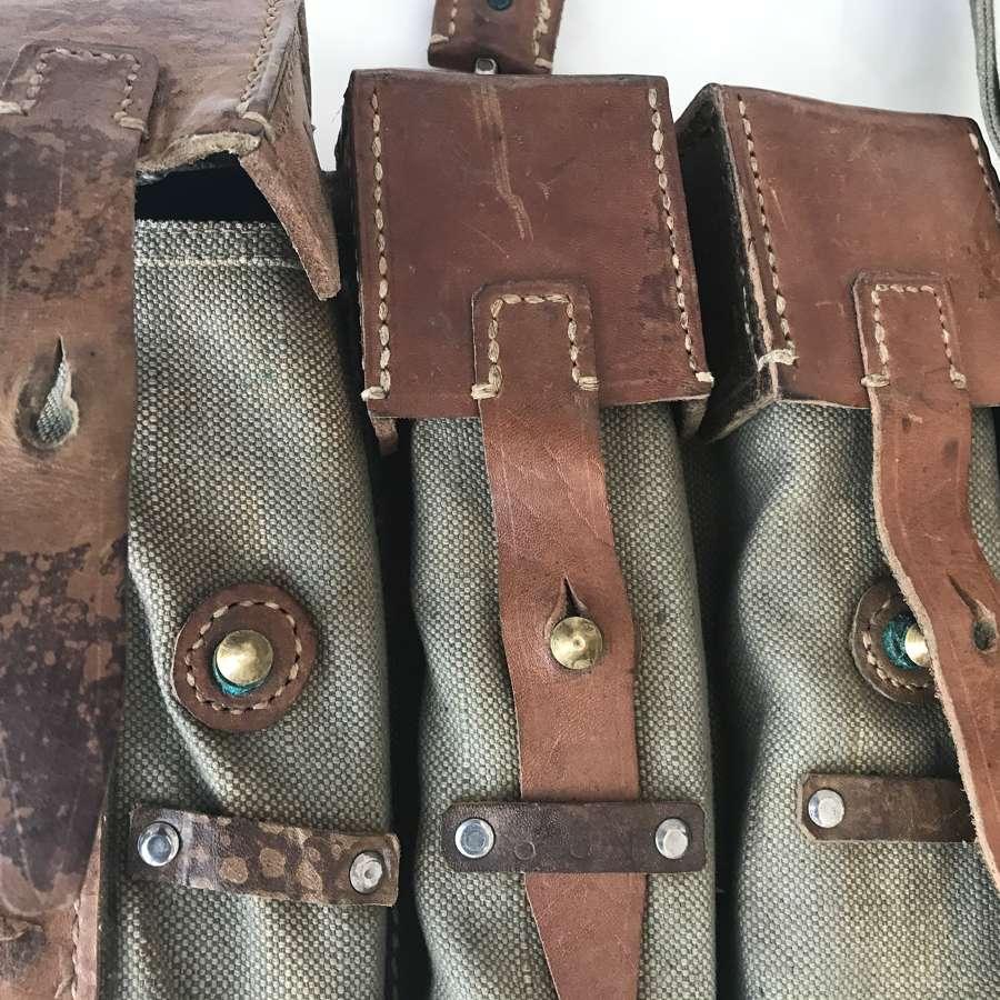 A pair Mp44 magazine pouches post war