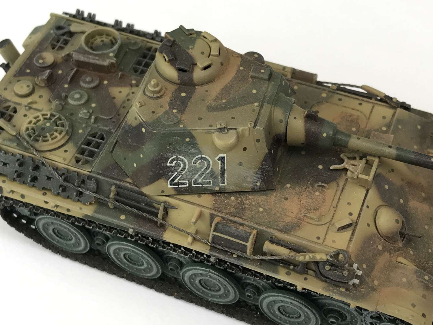 Late War Panther tank  model in 1/72 scale