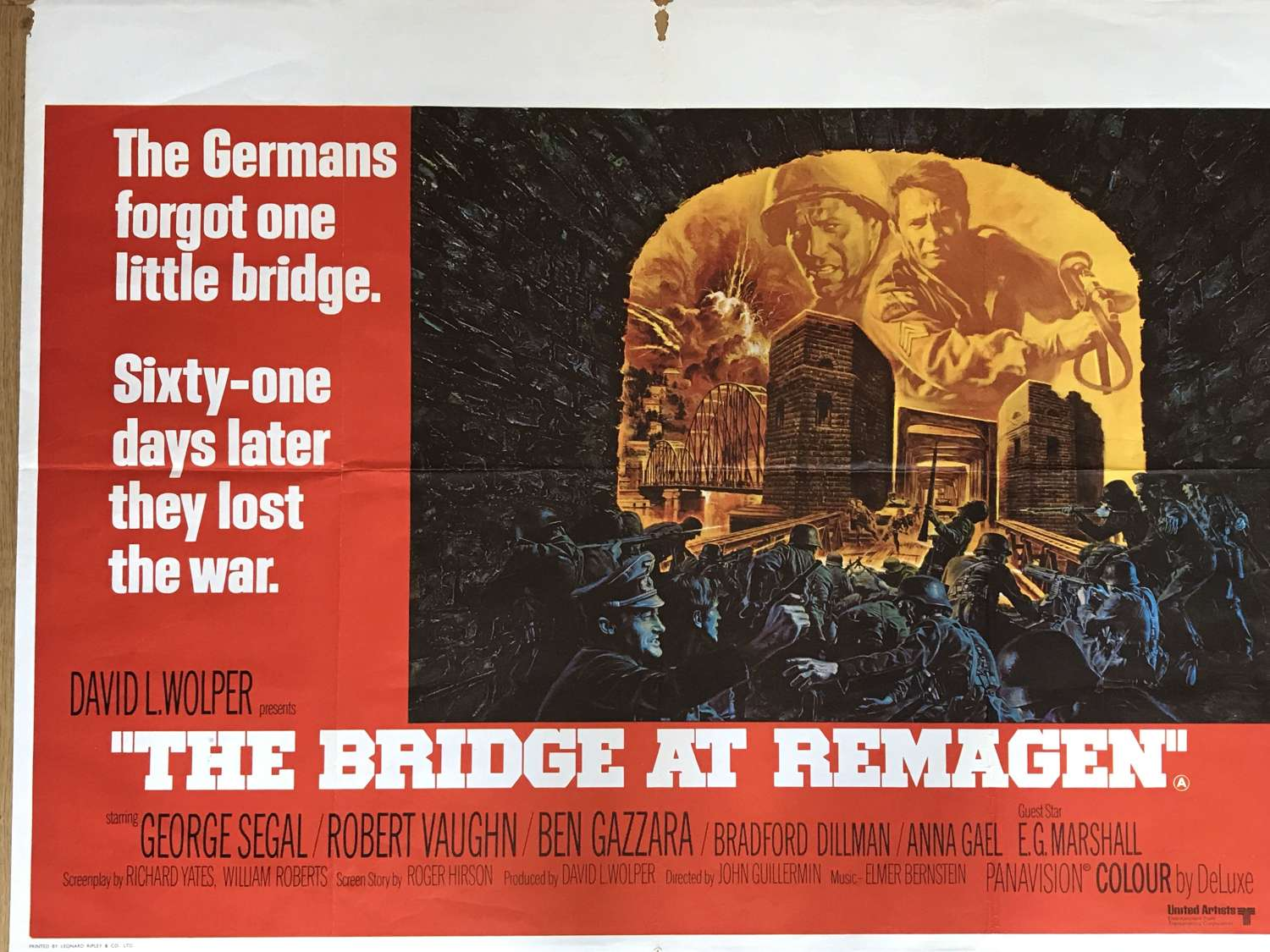 The Bridge at Remagen film poster