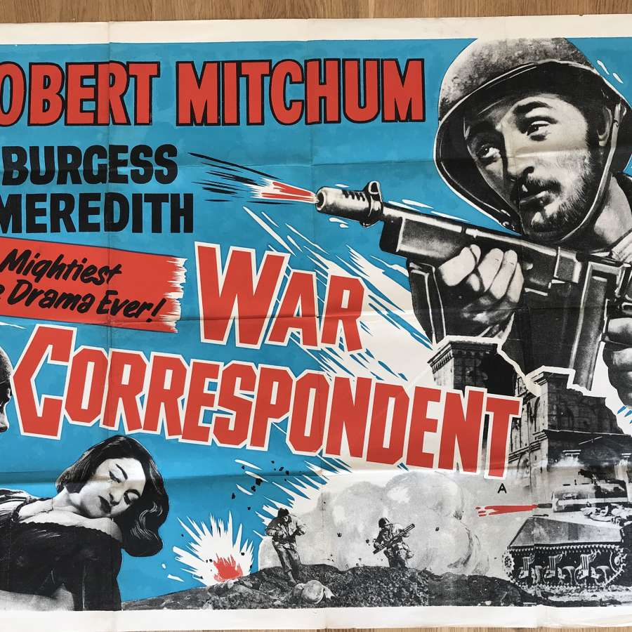 War correspondence film poster dated 1945/6