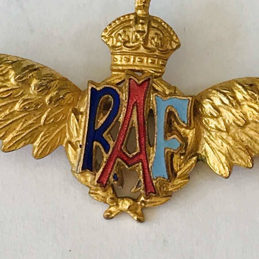 RAF Gilt sweetheart broach