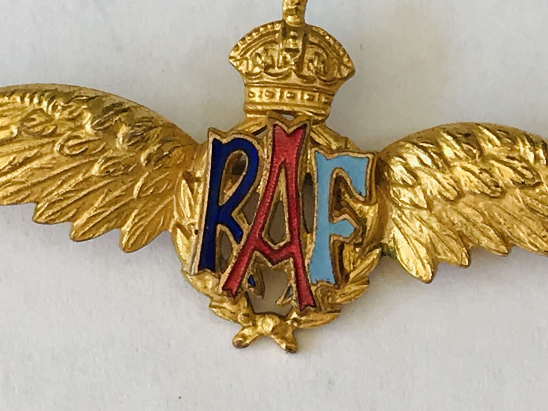 RAF Gilt sweetheart broach