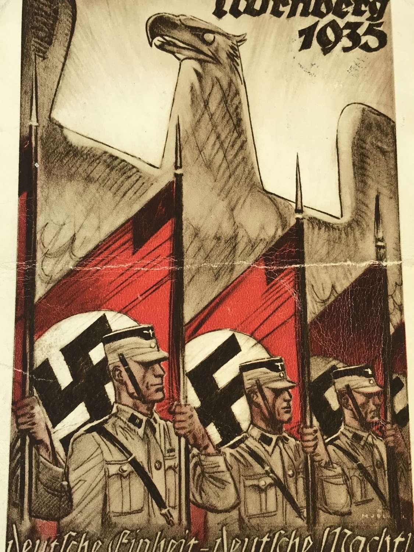 Nuremberg rally postcard dated 1935