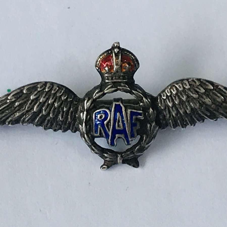 RAF Sliver sweetheart brooch