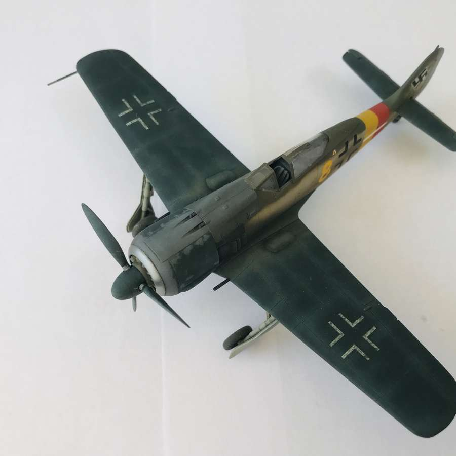 Detailed model of a Focke-Wulf FW190