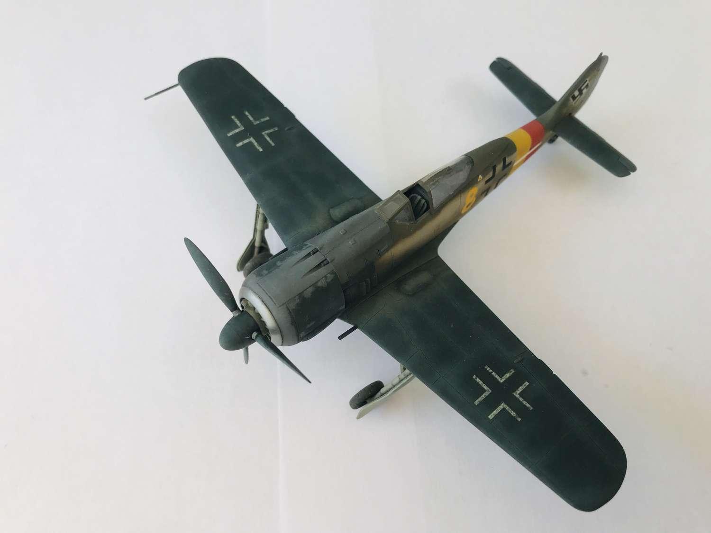 Detailed model of a Focke-Wulf FW190