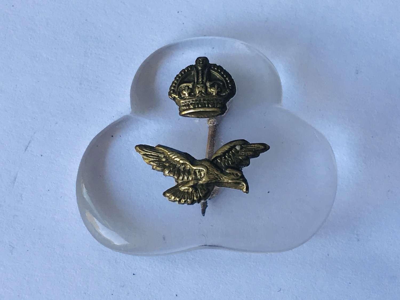 RAF perspex sweetheart brooch