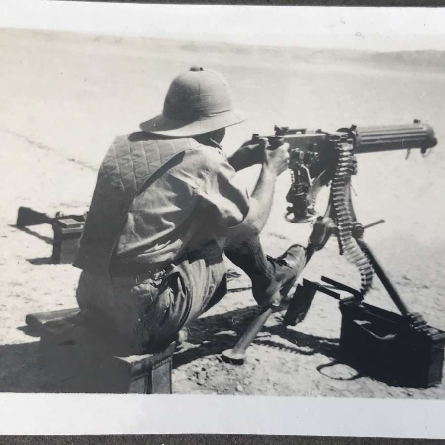 Denis on the Vickers machine gun