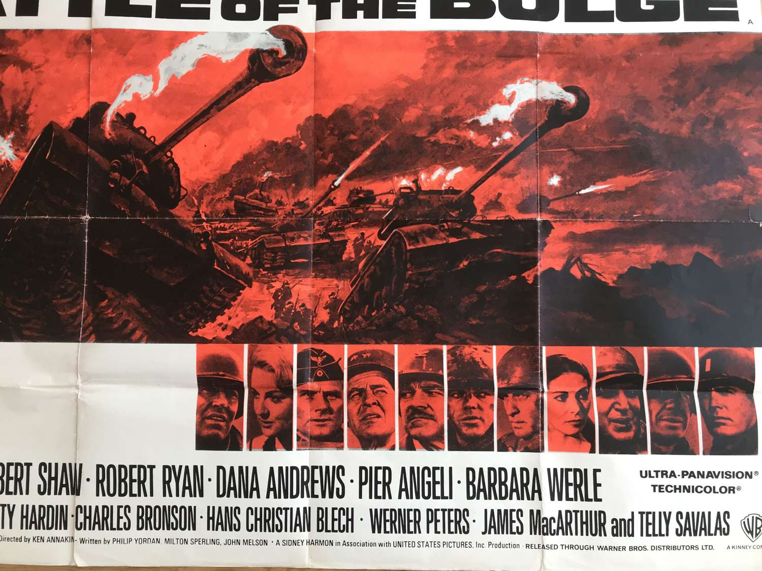 Battle of the bulge film poster dating from 1965