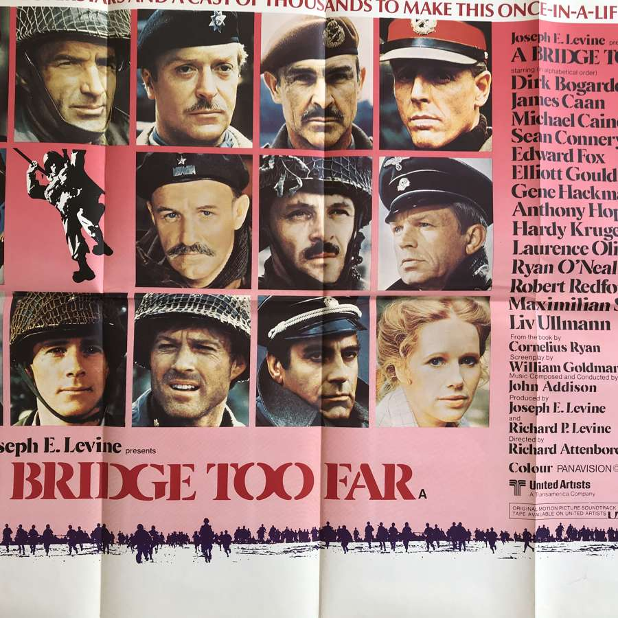 A bridge to far film poster dating from 1977