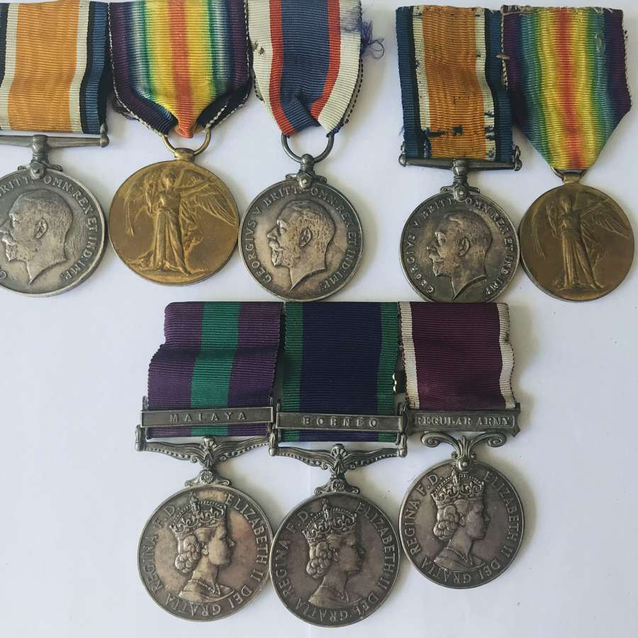A group of medals to 3 members of the same family