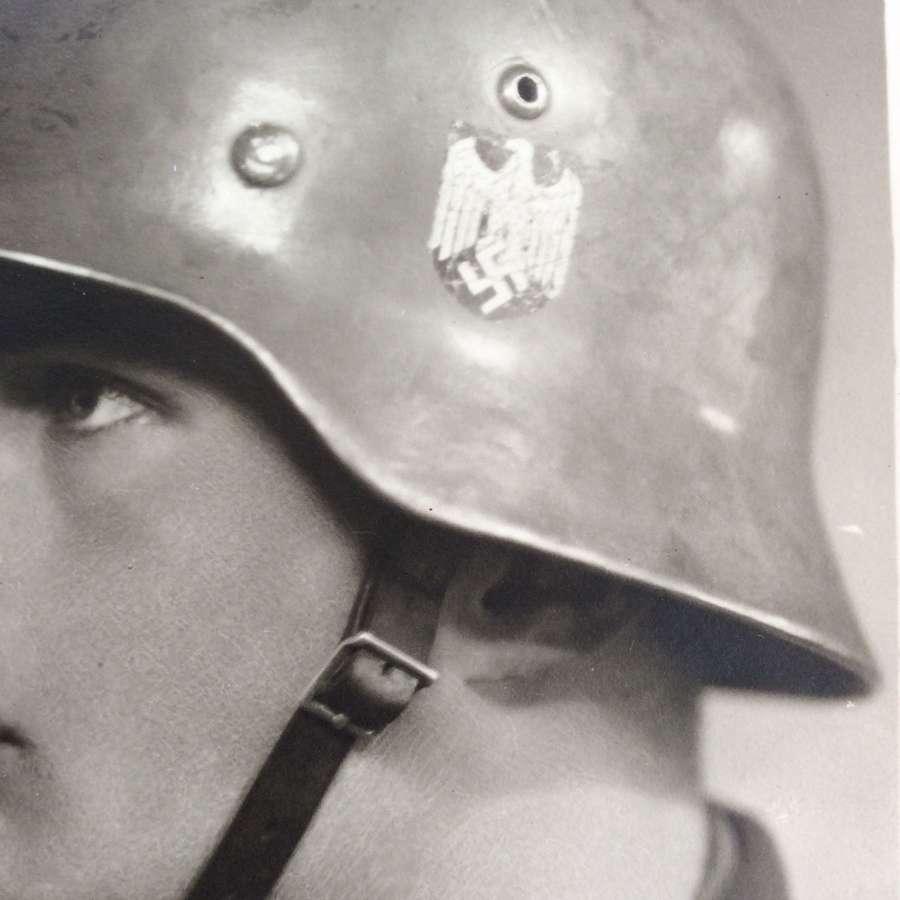 German Portrait postcard dated Feb 1940