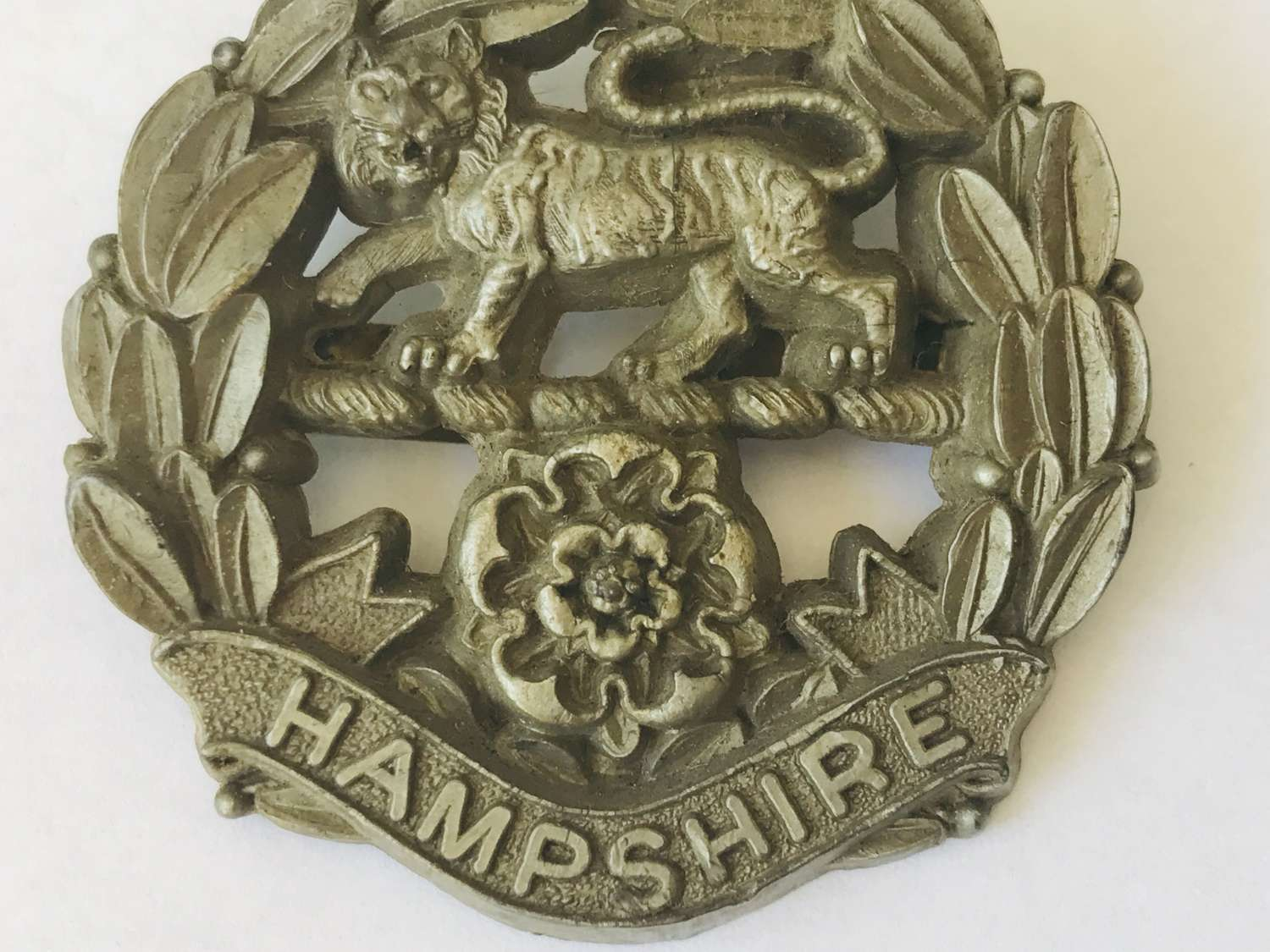 Plastic economy Hampshire Regiment badge