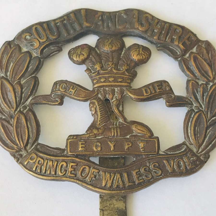 South Lancashire( Prince of Wales volunteers)cap badge
