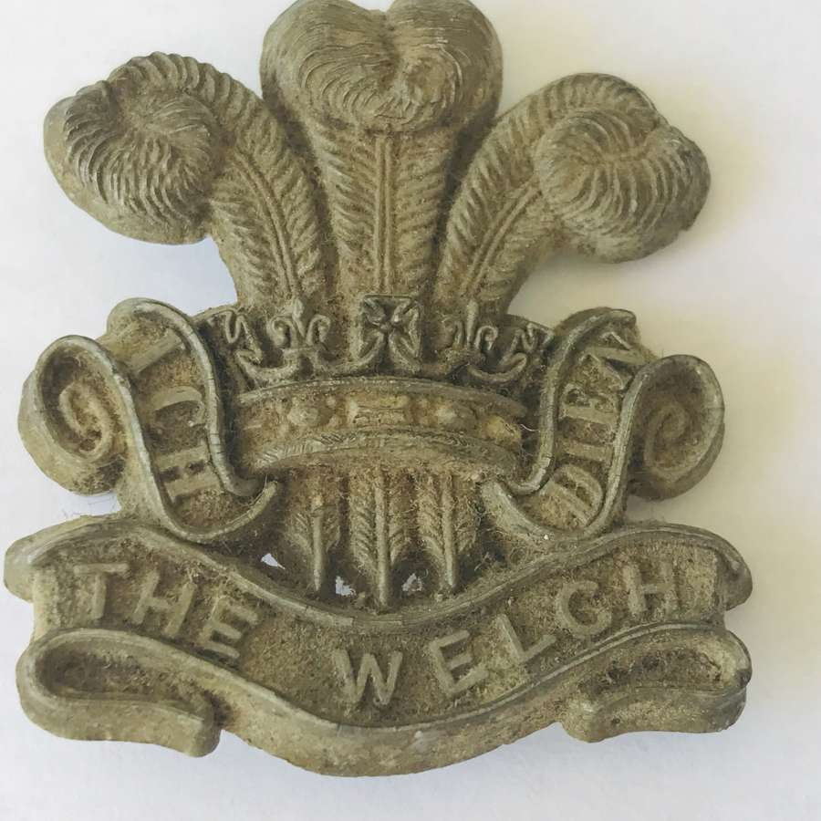 The Welch plastic economy badge