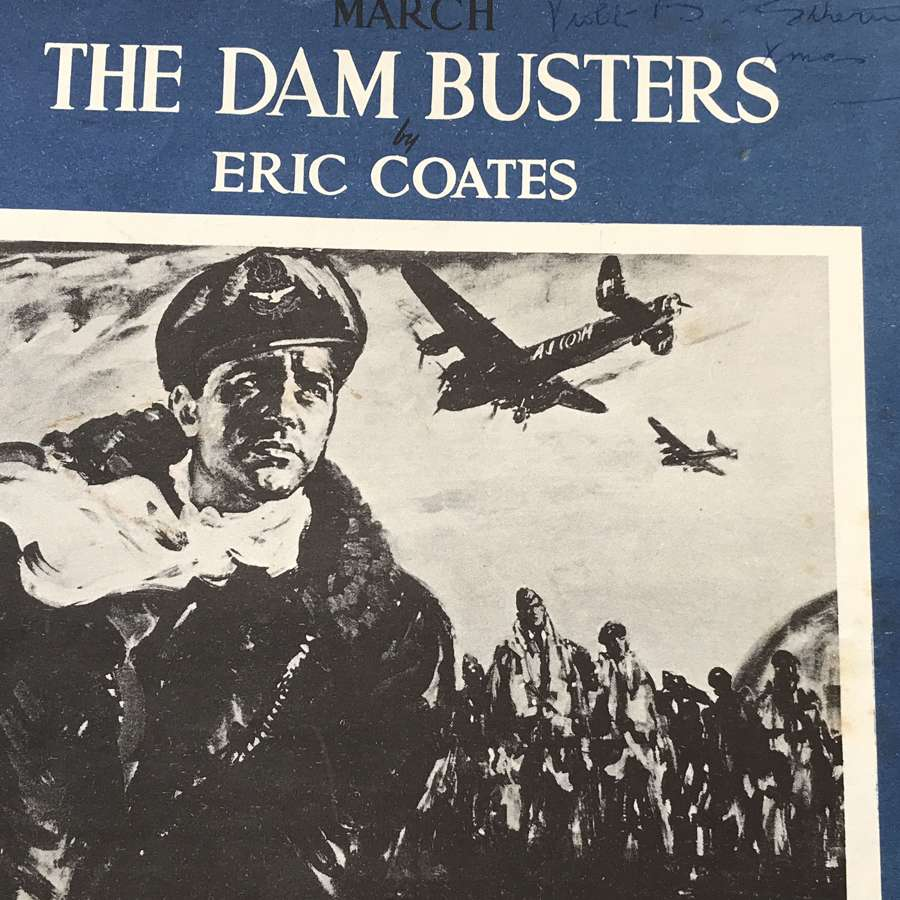The Dam Busters March music sheet from 1957