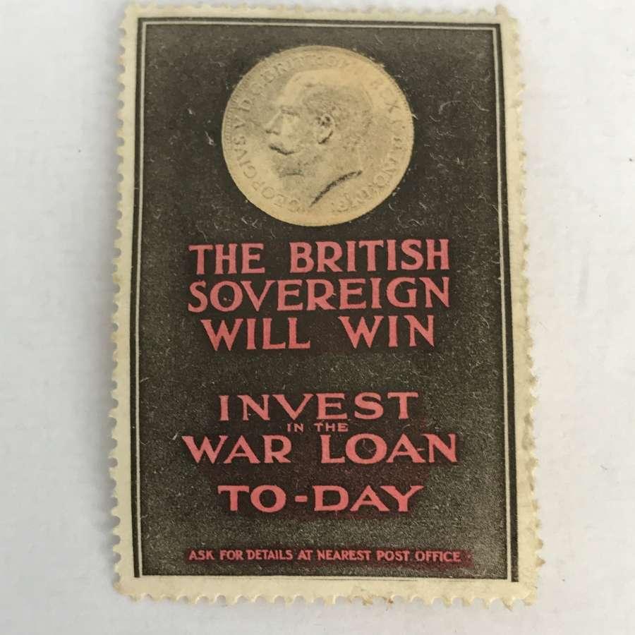 First world war invest in the war loan stamp