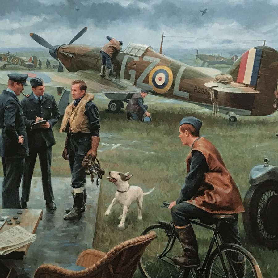 Return to the bump/ Biggin hill summer 1940 by Gil Cohen