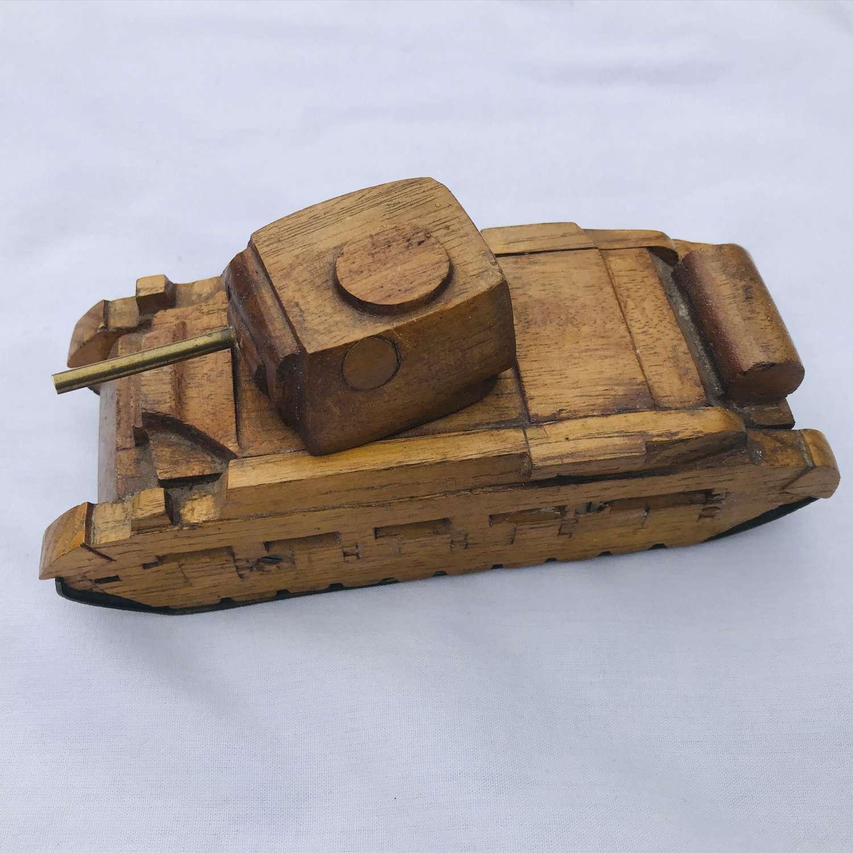 Hand made model of British Matilda Tank