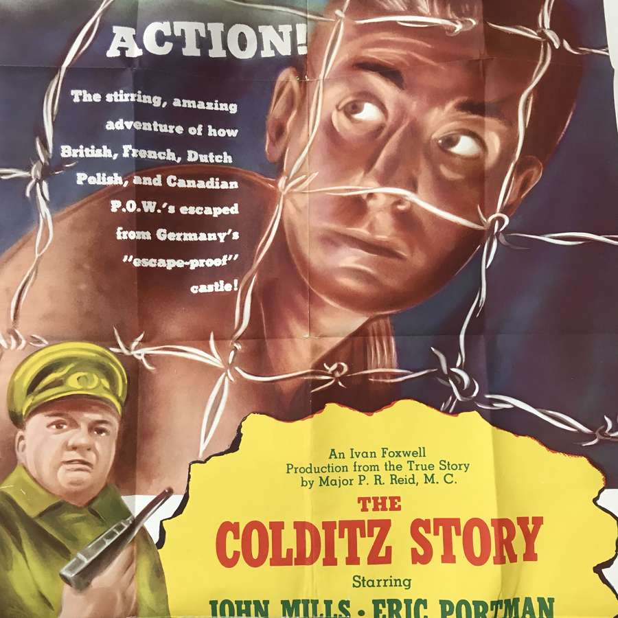 The Colditz story film poster dating from 1956