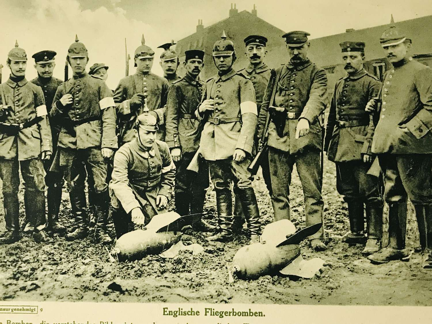 Large German propaganda photograph Ypres