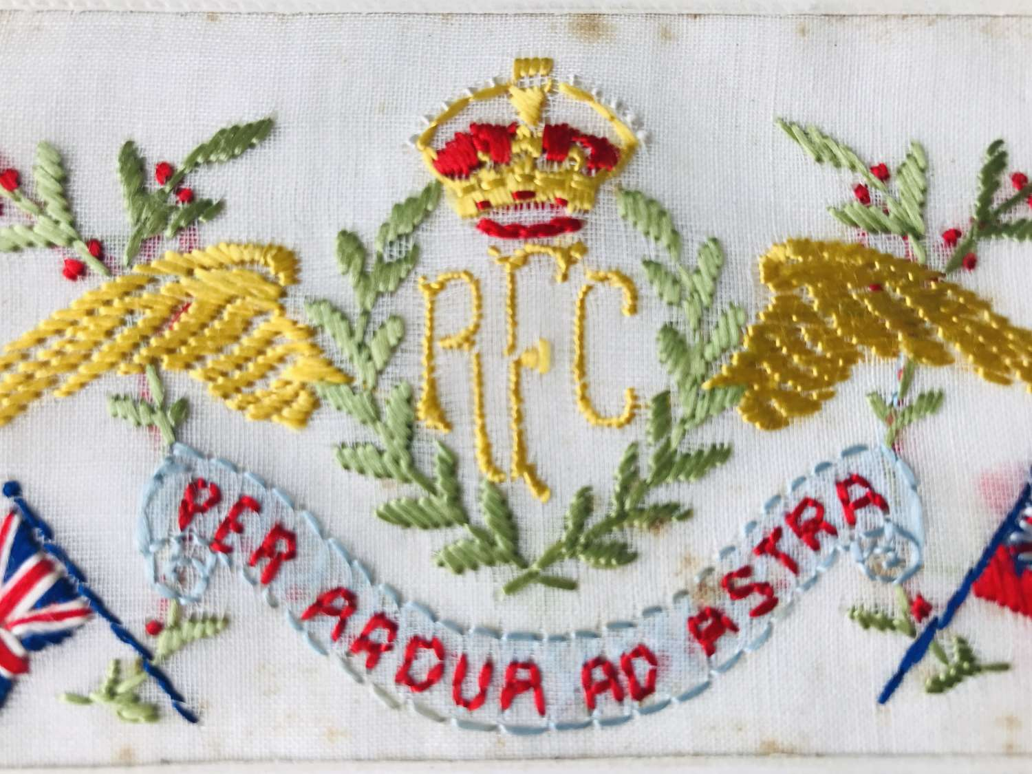 Royal flying Corps silk postcard