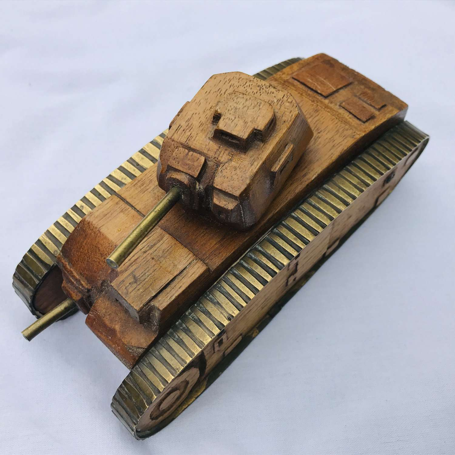 French Char B wooden model tank