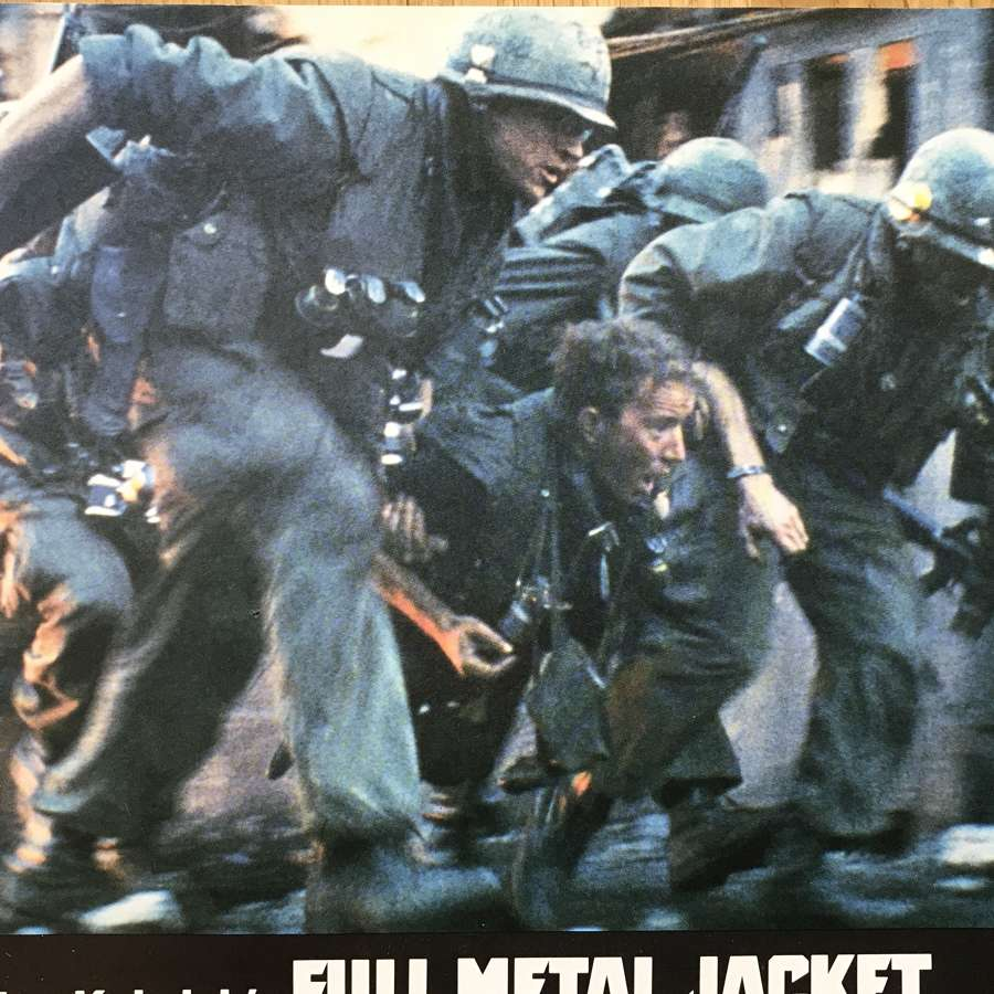Full Metal Jacket Film Promotional flyer