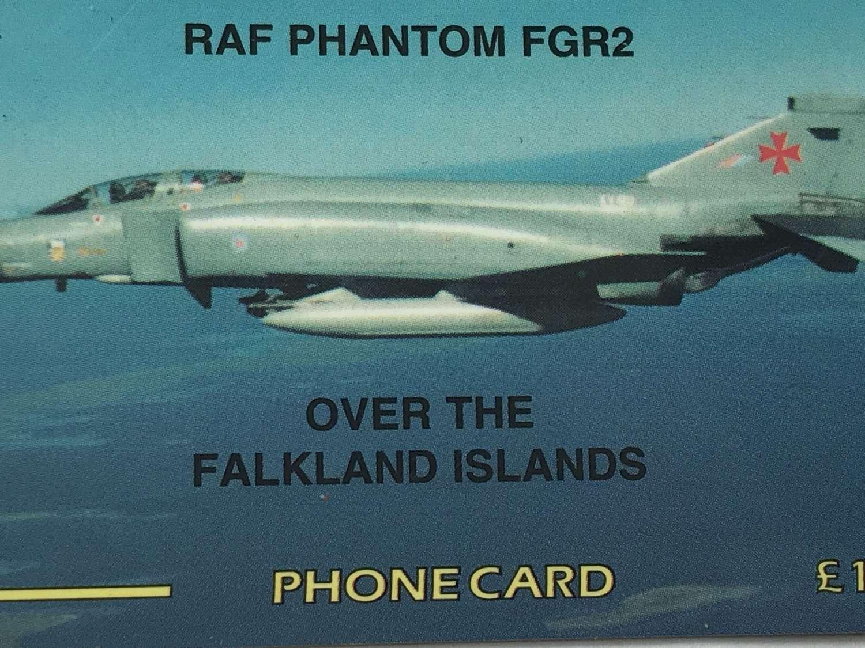Rare Falklands Phone card featuring RAF Phantom