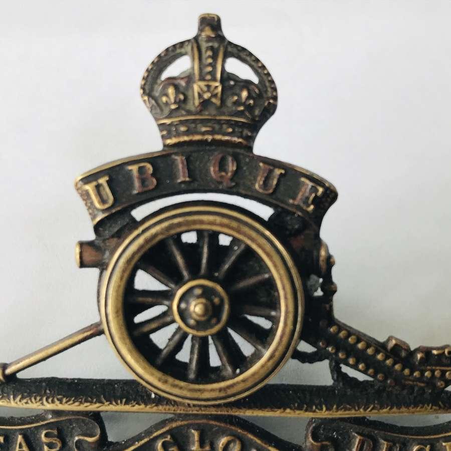Officers artillery cap badge
