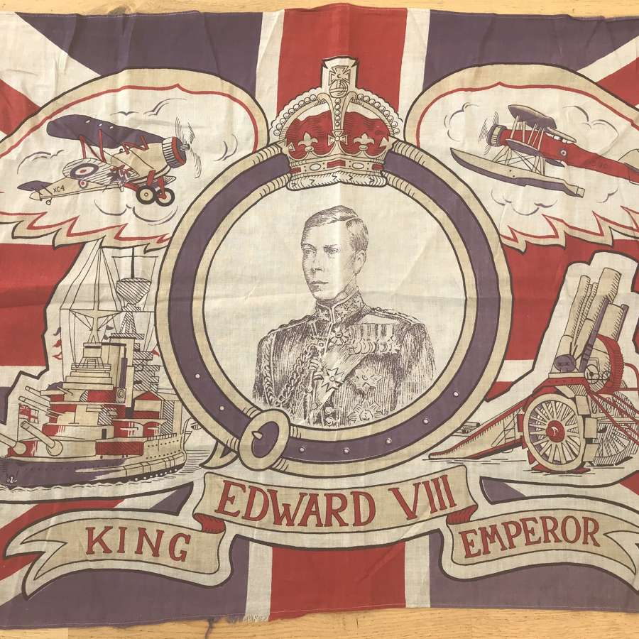 Edward VIII commemoration or coronation flag 1936