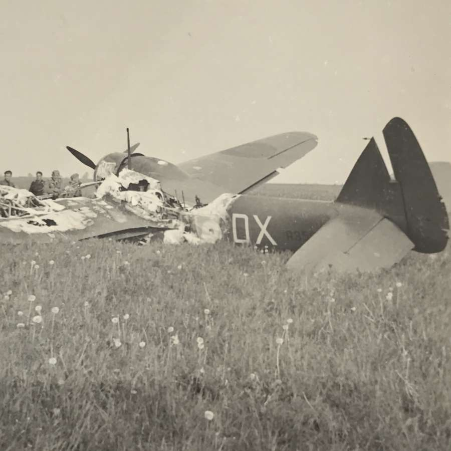 Photograph of wrecked Bristol Blenheim