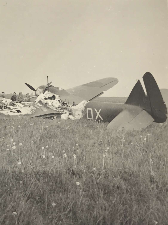 Photograph of wrecked Bristol Blenheim